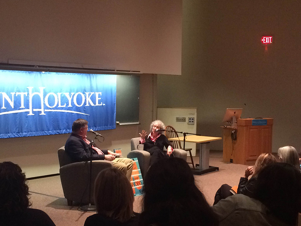 Photo by Anya Gruber '16 | Margaret Atwood described the inspirations behind her most recent work.