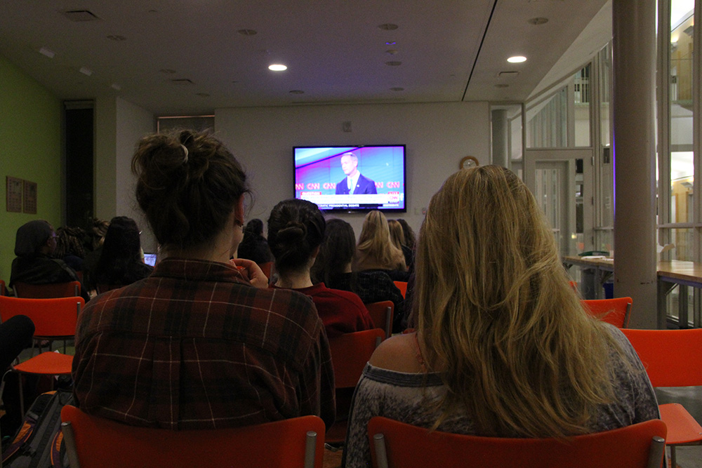 Photo by Leah Henry '17 | The watch party allowed students to view the debate in a politically non-biased space.