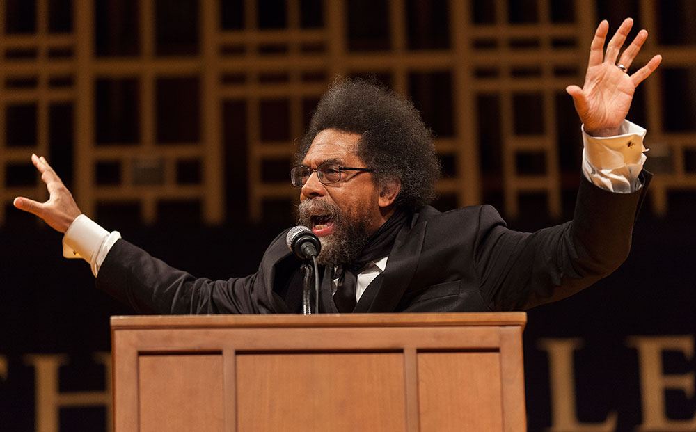 Photo by Carolyn Brown '16 | Dr. Cornel West, esteemed scholar and civil rights activist, spoke at John M. Greene Hall on Feb. 11.