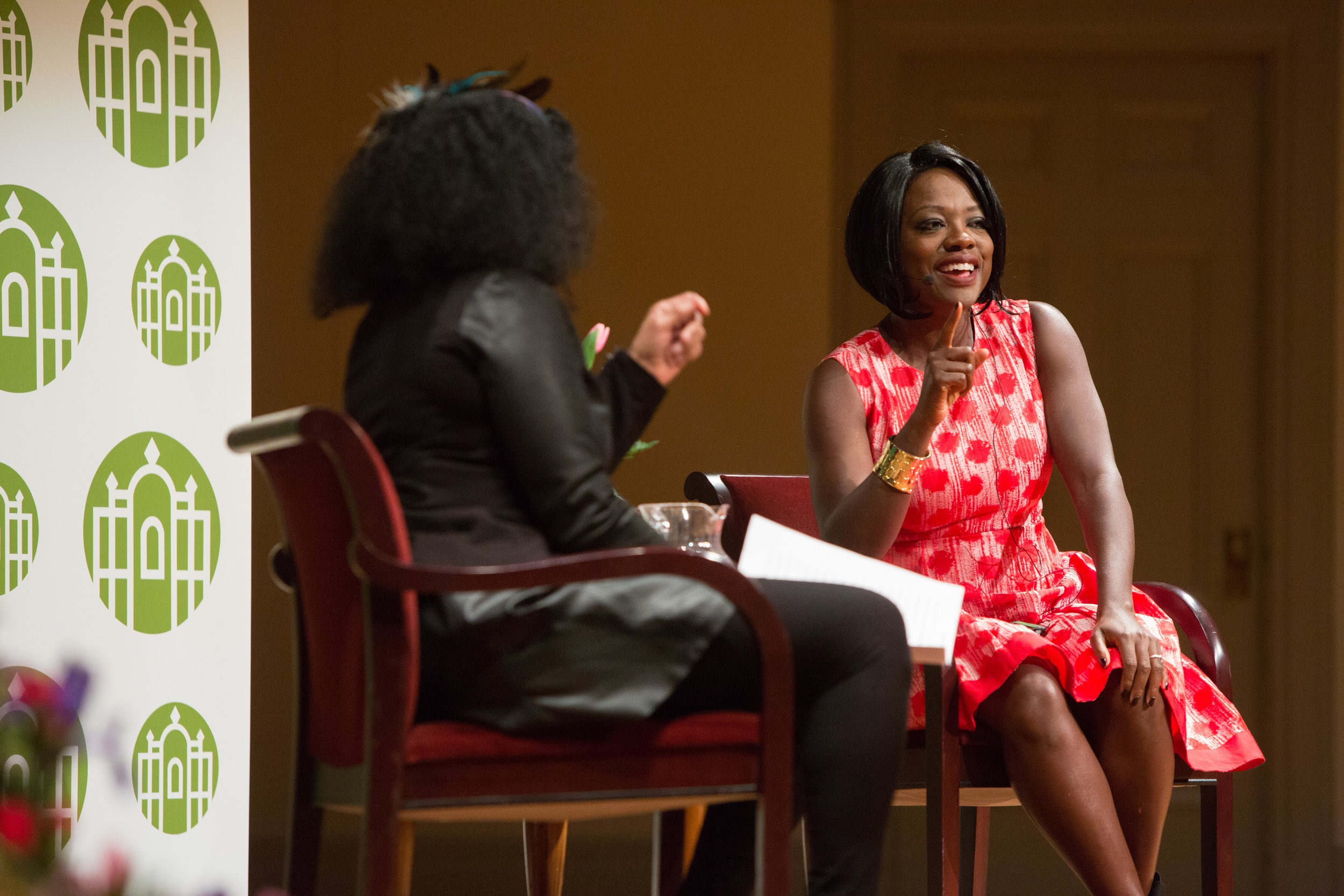 Professor Andrea Hairston and actress Viola Davis discussed Davis's career and the obstacles that actresses of color face.