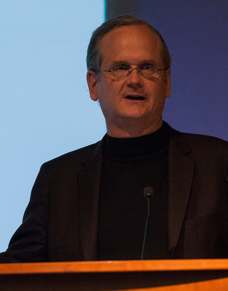Photo by Carolyn Brown '16 | Professor Lawrence Lessig analyzed corruption in the presidential campaign process as part of Smith's Presidential Colloquium series.