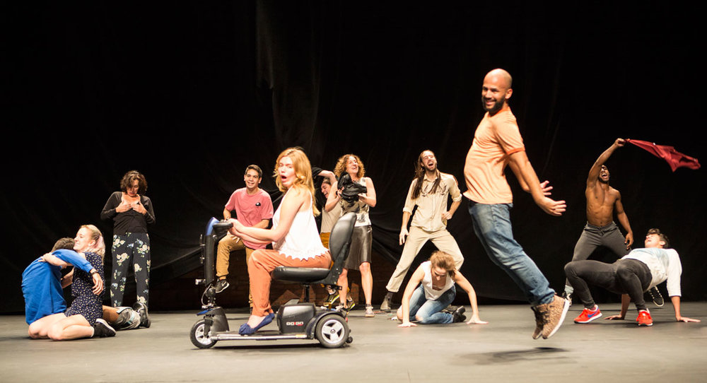 "Photo Courtesy of dancetabs.com ||  Jérôme Bel is a choreographer known for controversial subjects, such as his ""Disabled Theater,"" shown above."