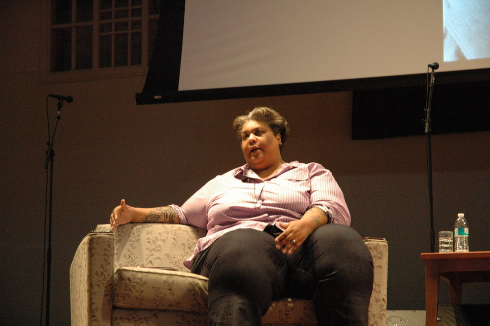 Photo Courtesy of Lizzie Stephanie '18 || Last week, best-selling author and columnist Roxane Gay gave the keynote address for this year's Otelia Cromwell Day.