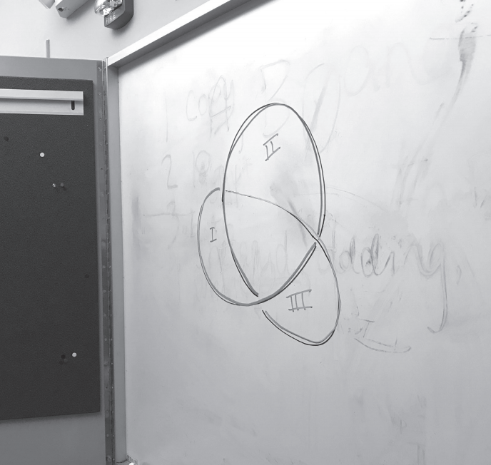 PHOTO BY CLARE O'GARA '22 | ASSISTANT LAYOUT EDITOR  Professor Patricia Cahn discusses her knot theory research and advises students on securing grant money.