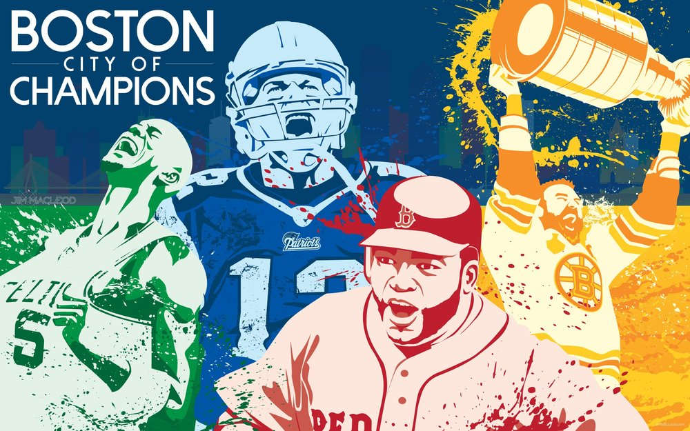 PHOTO COURTESY OF CHECKDOWNSPORTS.NET  The Boston sports teams embrace the challenge of the upcoming (and ongoing) seasons.