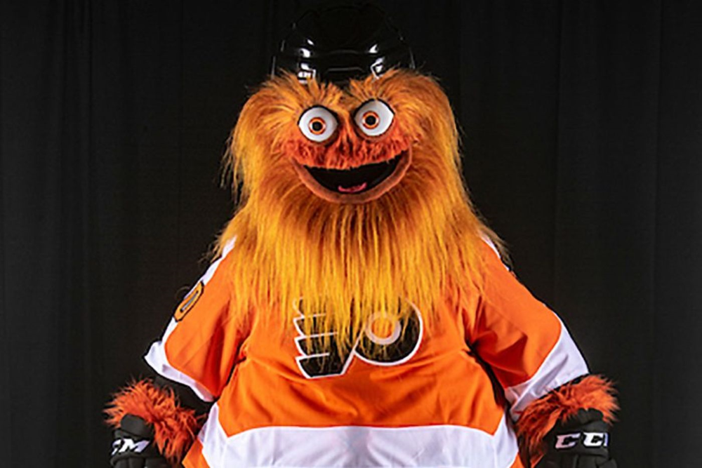 PHOTO COURTESY OF PHILLY.COM  Intense debate rages across the country as the Philadelphia Flyers' new mascot Gritty simultaneously becomes a symbol of the far left and a capitalist figurehead.
