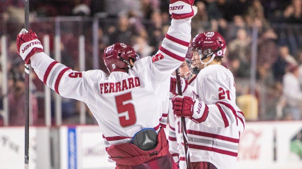 PHOTO COURTESY OF UMASSATHLETICS.COM  Umass men's hockey team takes hockey season by the storm with incredible wins.