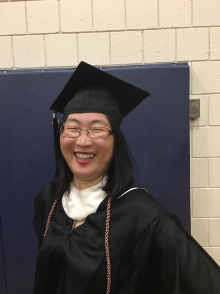 PHOTO COURTESY OF THE JANDON CENTER  New Jandon Center Americorps VISTA, Xie Xianxiu AC '18, at the Smith College graduation ceremony in May 2018.