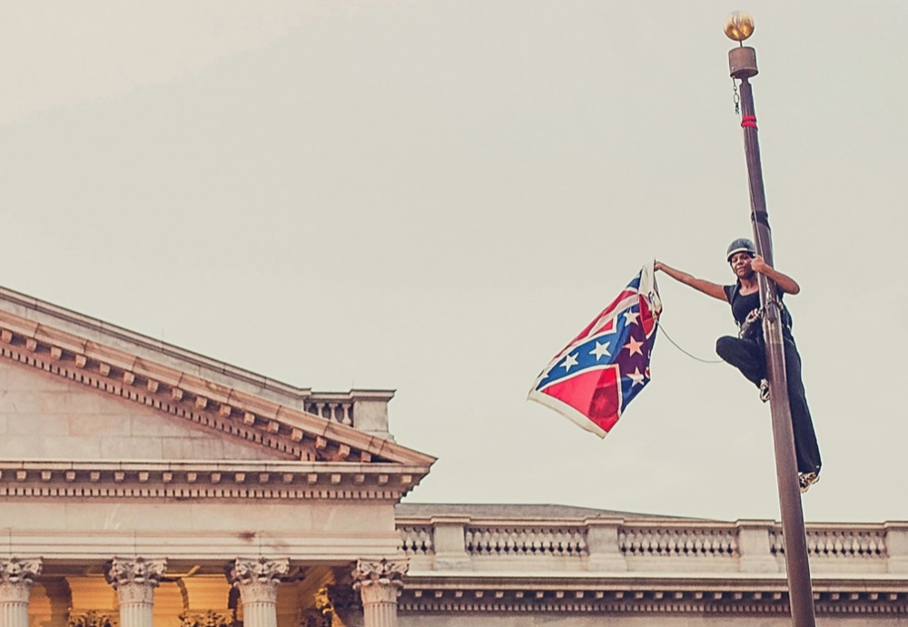 PHOTO COURTESY OF THE WASHINGTON POST  Members of Smith's Black Students' Alliance and activist Bree Newsome speak at the BSA's bi-annual conference.