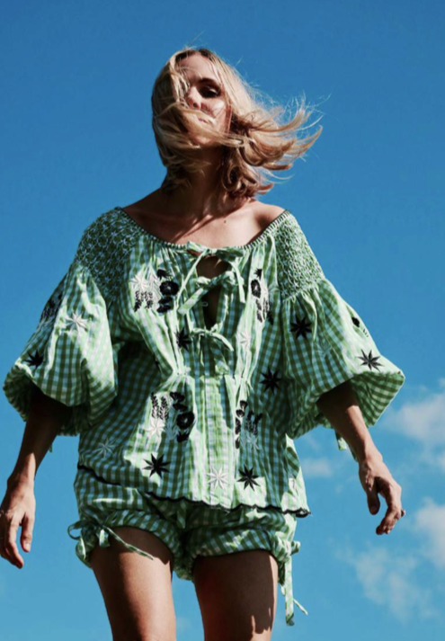 INK MT-ST-01-GG AVENS COLLECTION SMOCK TOP GREEN GINGHAM.png