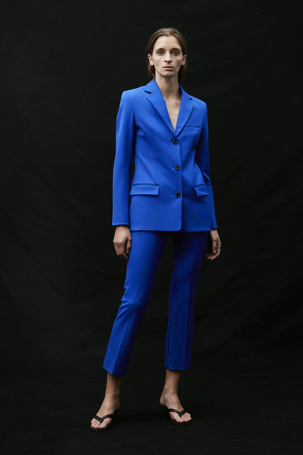 KWE SS18J003-LSW LIGHT WOOL BLAZER INDUSTRIAL BLUE AND SS18P007-LSW SKINNY CROPPED PANT INDUSTRIAL BLUE   .jpg