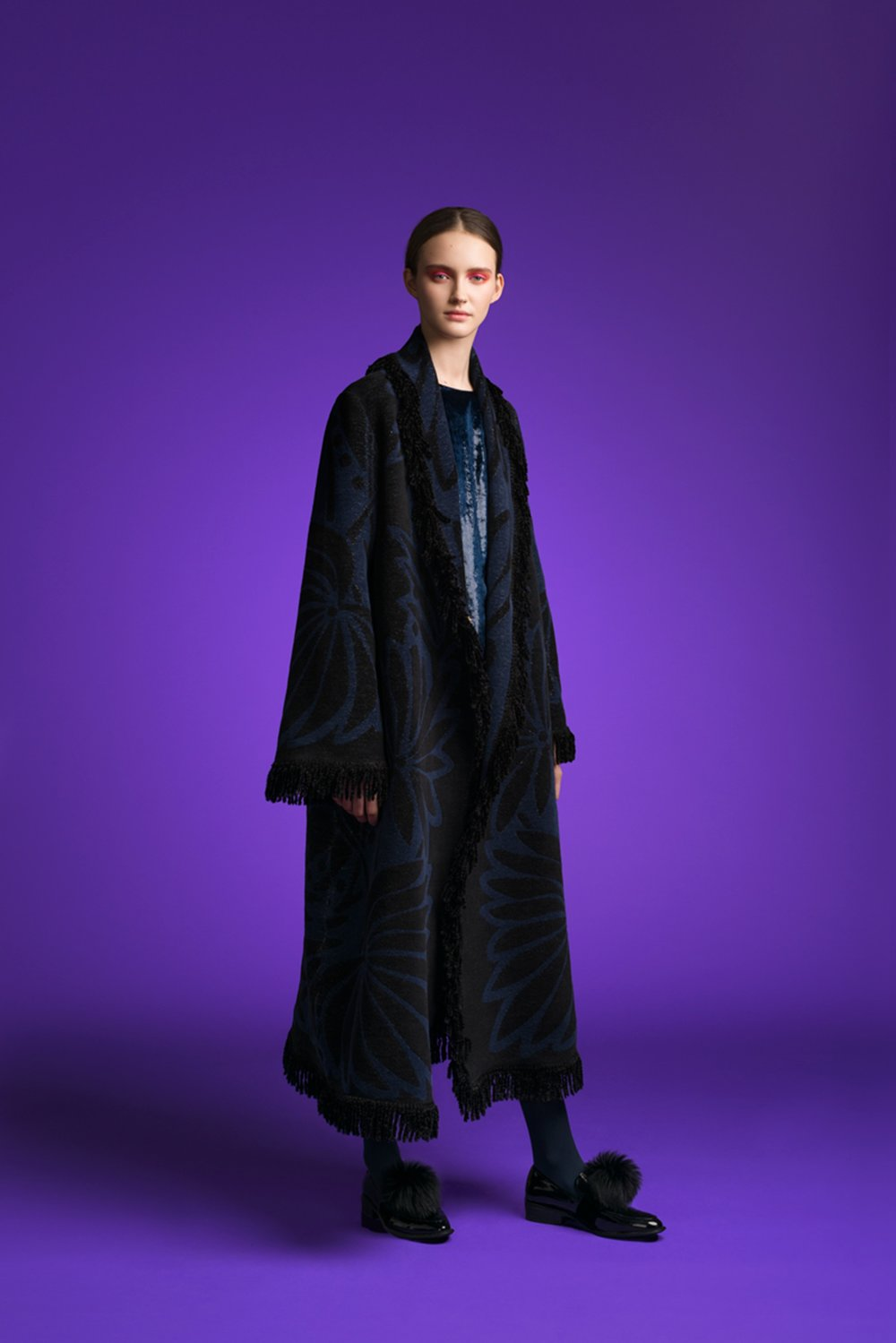 MTN CT07 LFS FRINGED LONG COAT BLACK:NAVY+PALMS LOOKBOOK.jpg