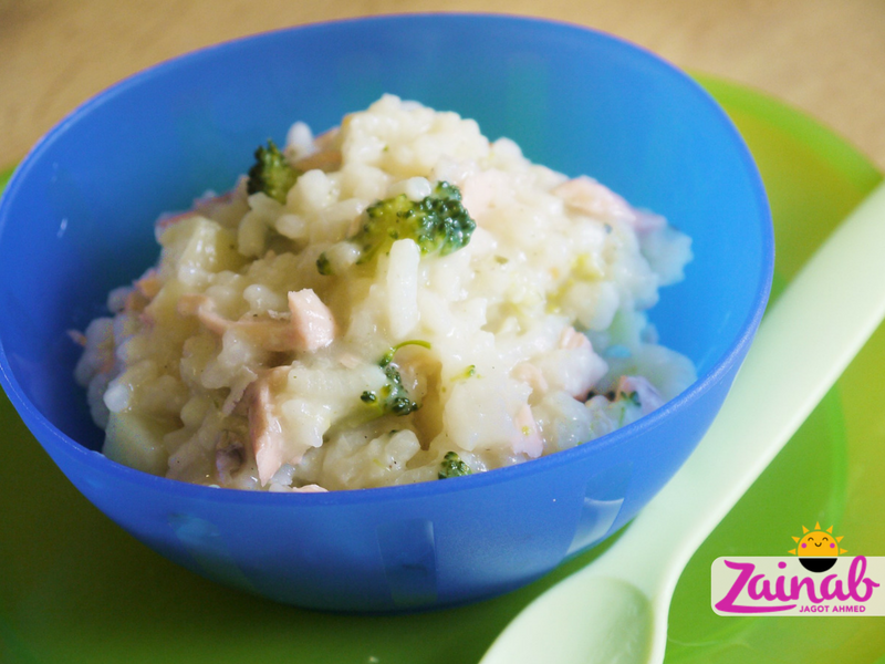 Indian Salmon Risotto with Parsnips and Broccoli