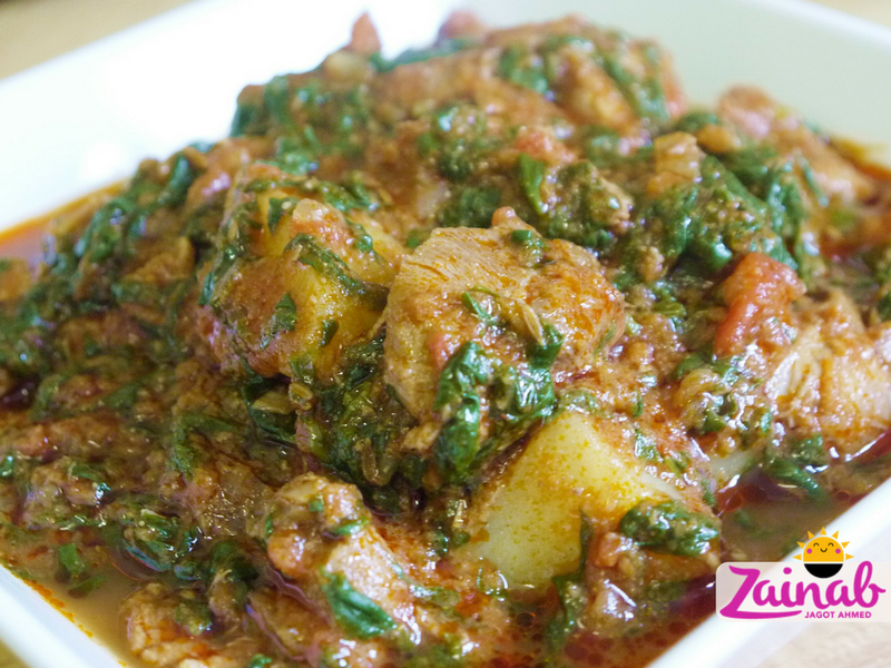 Lamb Saag Aloo Curry