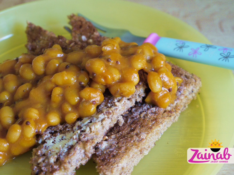 Baked BeanCurry on Toast