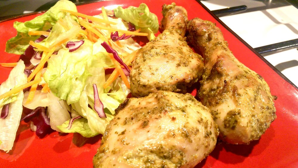 Spring Coriander Chicken Drumsticks_close