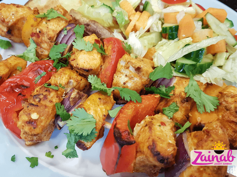 Grilled Turkish Chicken Shish kebab - baby food idea,baby led weaning recipe, halal baby food, family meal idea, fakeaway, slimming world inspired, syn free