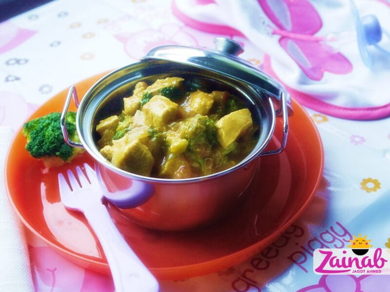 Coconut Chicken Curry - a baby led weaning curry recipe for babies and toddlers. A flavoursome baby food idea, Stage 3 weaning, 10+ months.