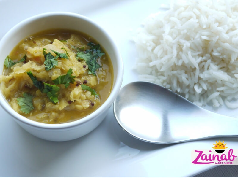 Quick and easy dhal recipe. Family meal, toddler meal idea, red lentil baby led weaning curry