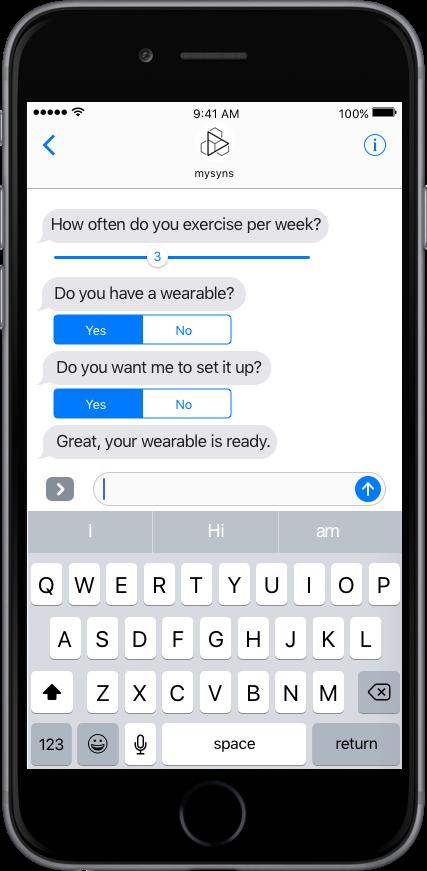 Mobile App mit strukturiertem Chat