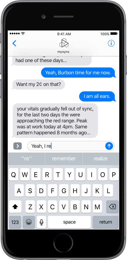 Free text chat with bot and therapist