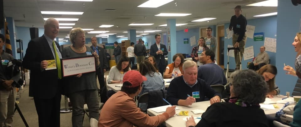 WDC members attend  Take Back the House Day of Action with Nancy Pelosi  followed by canvassing, phone banking, and writing postcards to GOTV for all our Democratic nominees.