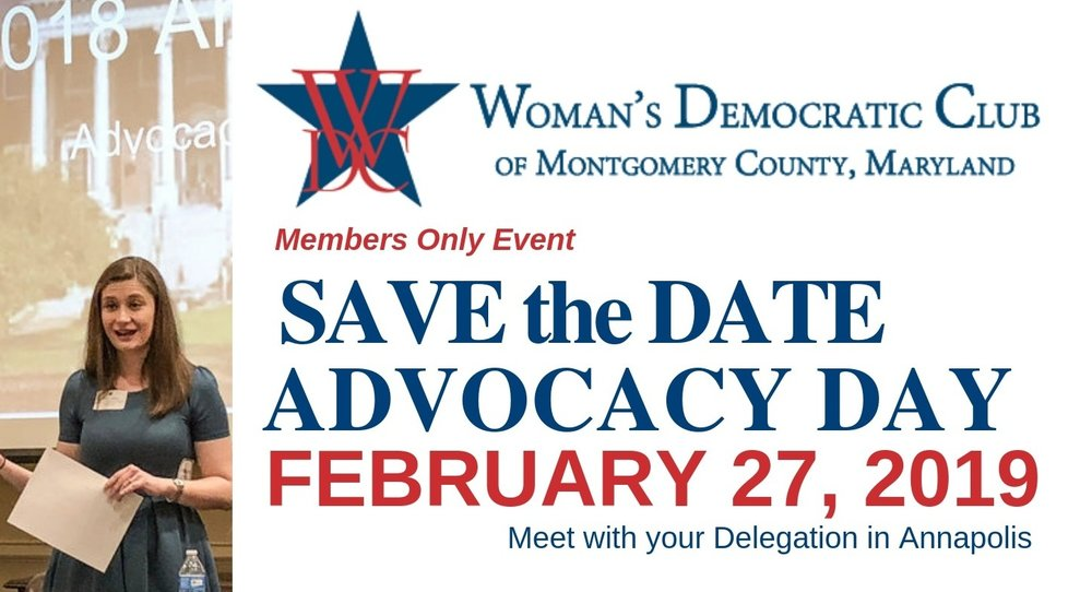 Save the Date! WDC Advocacy Day