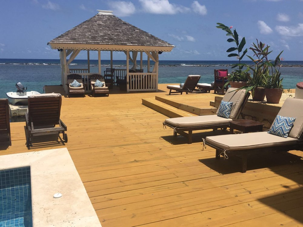 Your private backyard view at San Bar overlooking the Caribbean Sea.