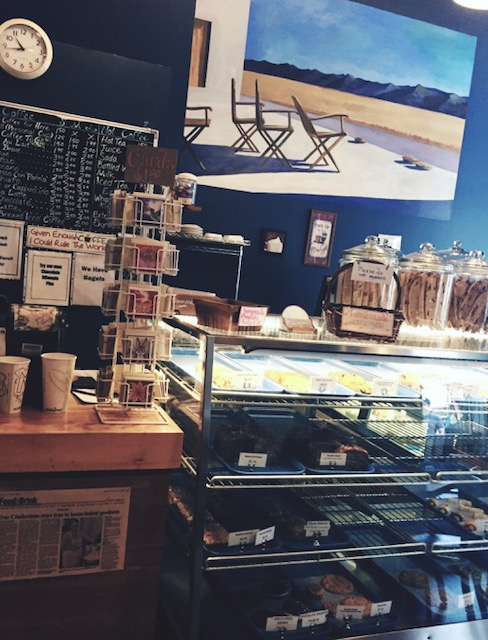True Confections Bakery serving warm tea to go with your giant plate of freshly baked desserts!