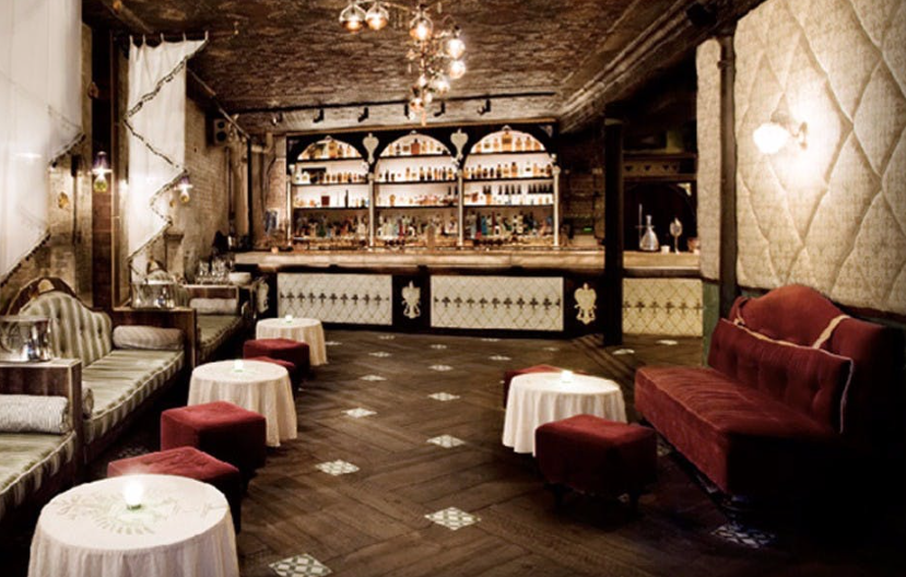 Inside Apotheke, courtesy of their website. Take your time and take a drink.