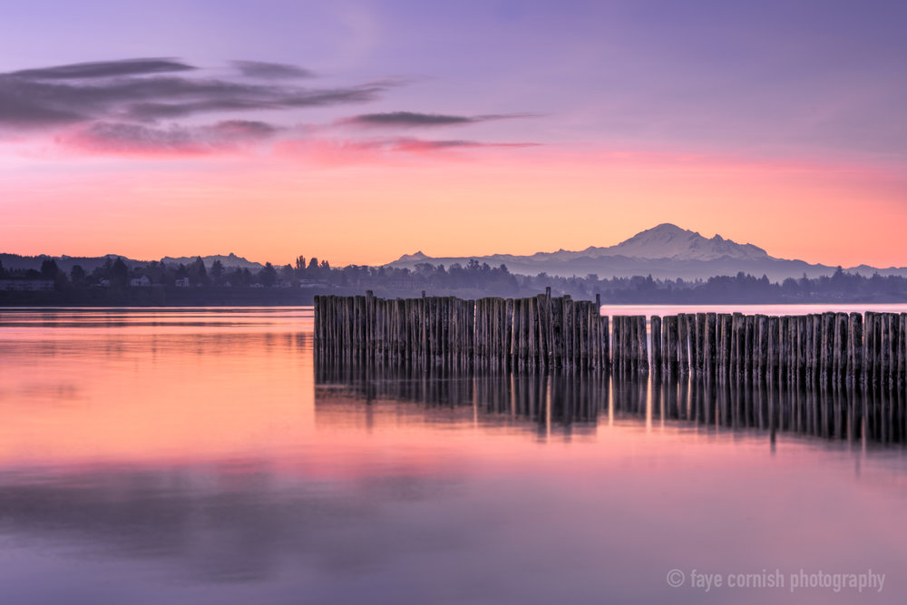 Mt. Baker at Sunrise