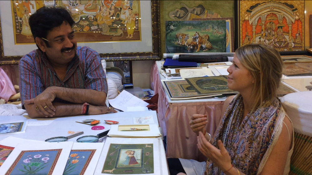 Sri Ramu Ramdev and Victoria, Jaipur City Palace Studio, November 2017