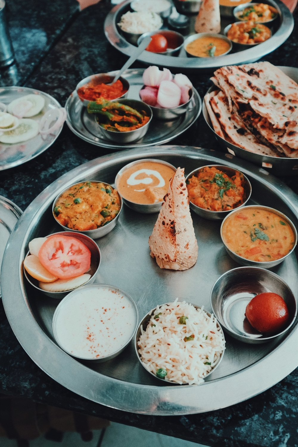 Thalis  are all about a balance of flavours that satisfy the palate while giving the body complete nutrition.