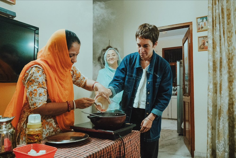Temporing secrets, Rajasthani home-style cooking lesson, Jaipur