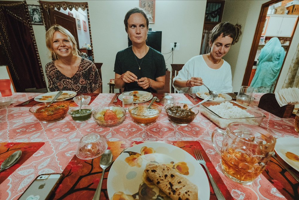Feasting on our creations, Rajasthani home-style cooking lesson, Jaipur