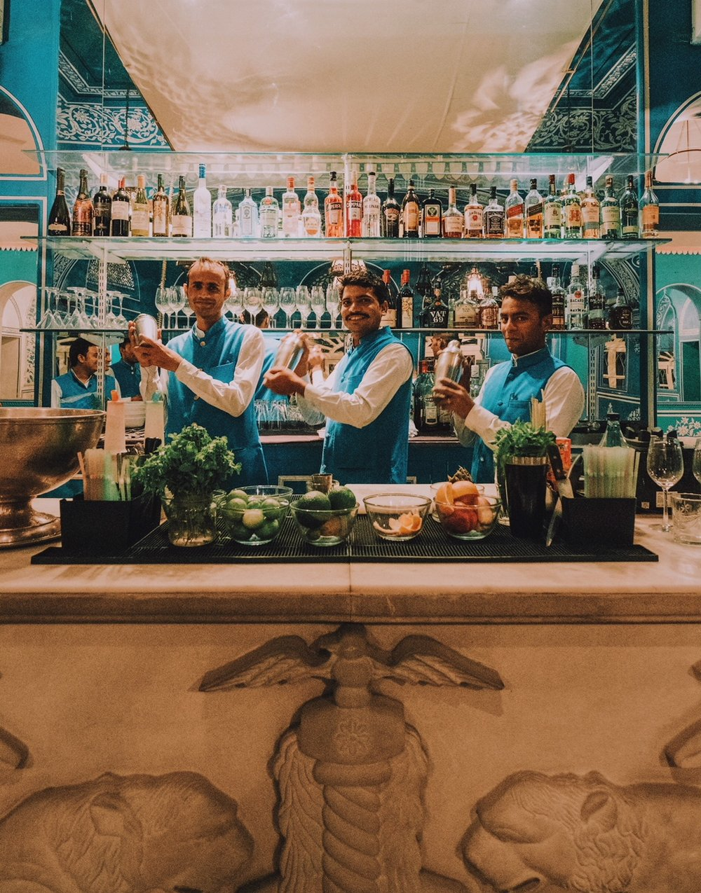 Bar tenders at   Bar Palladio  , Jaipur
