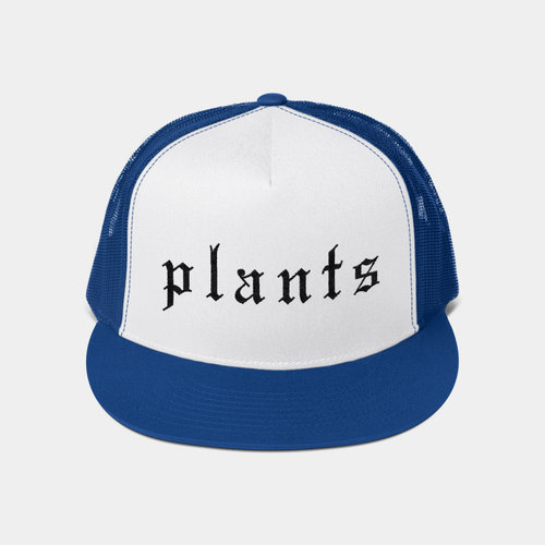 992197aa923 Plants Blackletter Vegan Trucker Hat