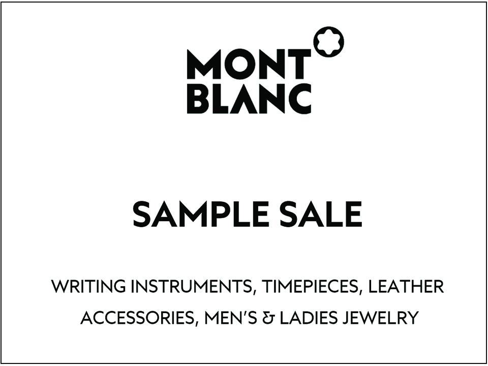 6845c030bd426e Montblanc Sample Sale