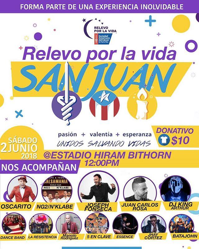 Hoy el #frenteafrente @nklabemusic/#NG2 va al @Relevoporlavida en San Juan PR en el Hiram Bithorn. Showtime 6pm