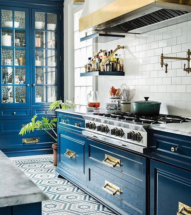 Help! I'm designing a new kitchen and need to know-colorful and fun like this kitchen or classic, bright and white? What would you do?! #design #kitchendesign #atlantadesigner #interiors #chic #designinspo #classic