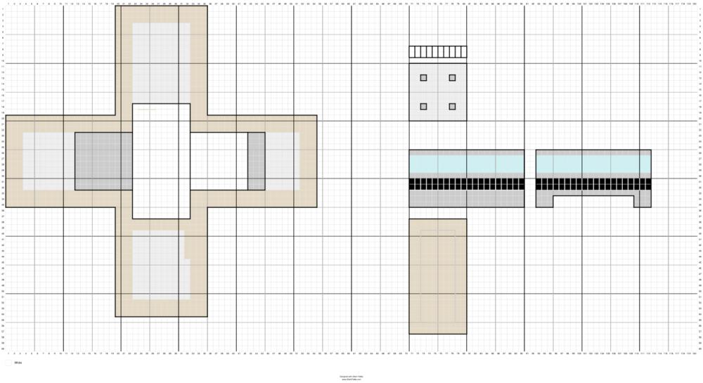 Pattern for roof + upper floors