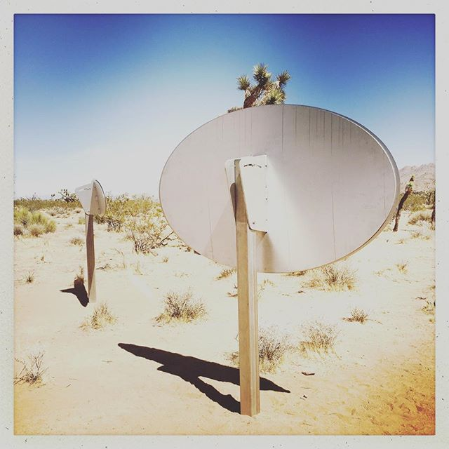 "B Side of Sarah Vanderlip's ""Untitled (Double Ellipses), 2018"" #sarahvanderlip #sitespecificinstallation #roughplayprojects #joshuatree #doubleellipses @sugarjarvacancy"
