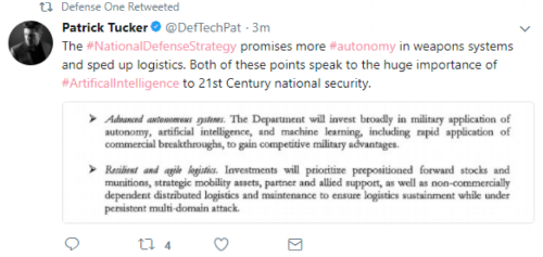 National Defense Strategy AI Tweet.PNG