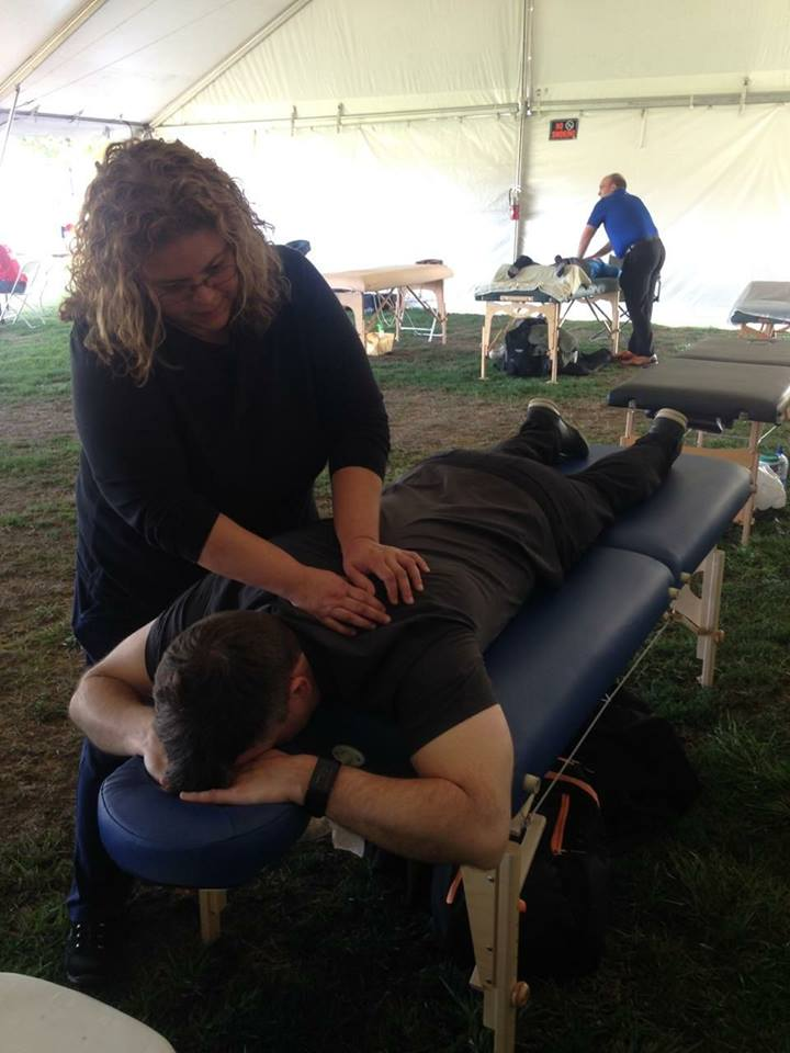 Second day at Tour DaVita 2017! - 600 riders, 20 massage therapists, 10 hours of massage.