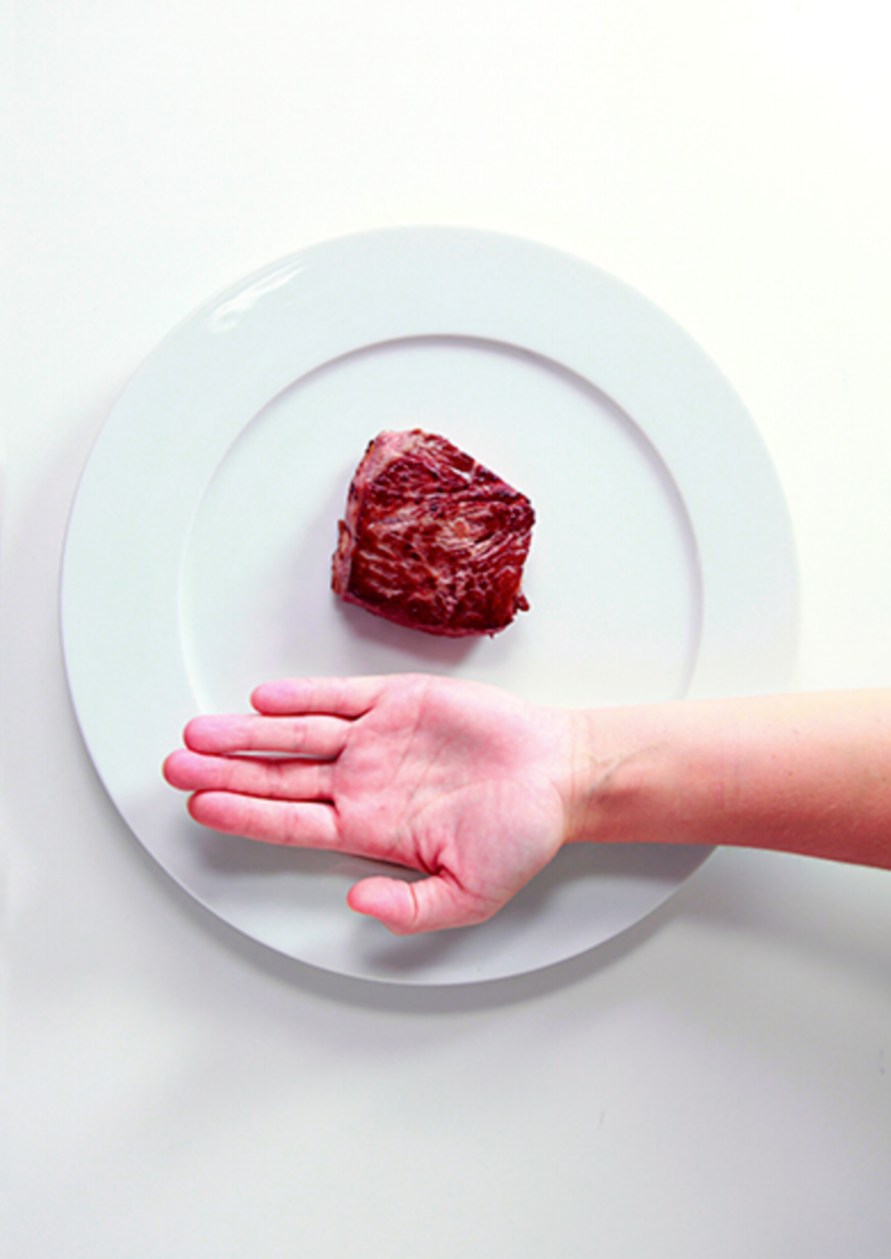 6. CONTROL PROTEIN - Use your hand to control your protein portion at dinner. We don't mean by lifting a spoon. Literally, take a look right now at your hand!Ladies, you're going to look at the size of your palm from the base of your fingers and thumb, all of the way around in a circle. When you make your plate, take a portion of protein (turkey, ham, etc) the size and thickness of your thumb and slap that stuff down on your plate. Gentlemen, you get two palm-sized portions.If you really love Thanksgiving day turkey like I do, and you made sure to follow point #3 above and did some kind of exercise, go ahead and add another 1/2 of your palm of protein. BAM.
