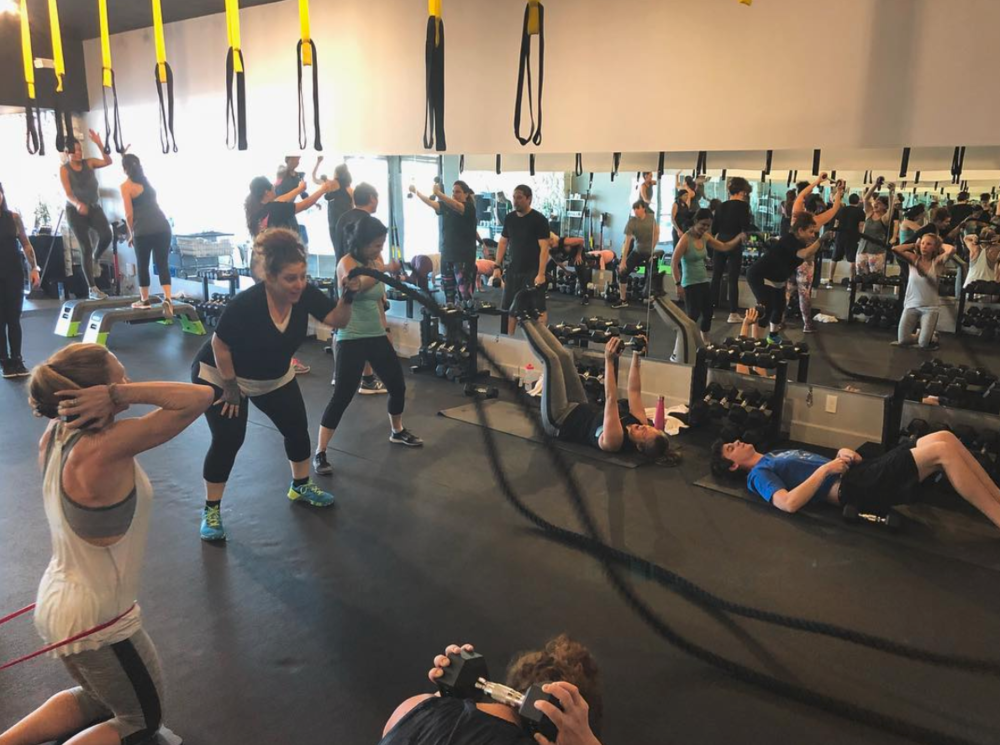 SUNDAY FUNDAY - The highlight of everyone's week! You'll rotate throughout various stations using a variety of different equipment during this 45 minute class where we combine the best of resistance training with interval cardio. Often times you're working with a partner, and it's an amazing community builder!