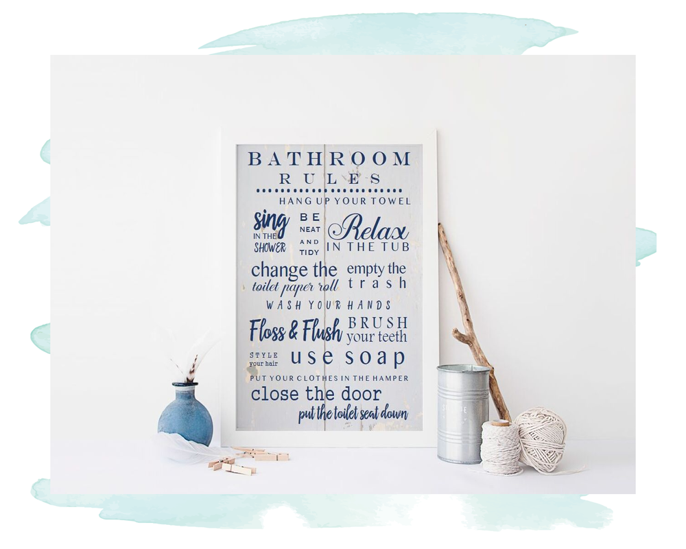 Art Prints | Bathroom Rules | Anchor Fifty Two