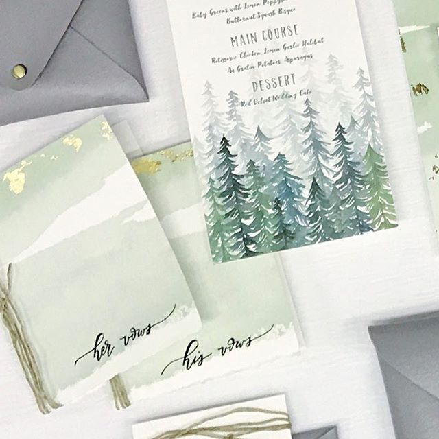 Bringing a little green your way to start off St. Patty's Day. This suite here was a handmade labor of love. From handmade leather envelopes with beautiful brass studs, watercolor goodness throughout, hand lettered vow booklets, deckled soft velvet paper topped off with gold leaf goodness and cord. Can you feel my excitement for this one?! I sure hope so. The only thing you don't see here is the beautiful envelope liners to complete this suite. . . Winter Inspirational Shoot Collaboration with: Photography: @mneumann.photography | @stephanie_bar Bride and Groom: @phobymo | Max Bridesmaids: @amyboehly | @emily_mutch Groomsmen: @elquinzie | @nick_r_photos Dresses: @sweetcarolinestyles MUA: @madmakeupofficial Hair: @mollys_chair Hair Accessories: @thefawnandthesparrow Florals : @acottagegardener Set Design : @blondeandblueboutique Bakes goods: @lovebitesbyerika Paper goods: @anchorfiftytwo Jewelry: @whippetgirl75 Venue: @rosebankwinery . . #weddinginspo #anchorfiftytwo #anchor52crew #weddingstationery #leatherenvelope #weddingsuite #weddingwednesday #calligraphy #custominvitations #watercolor