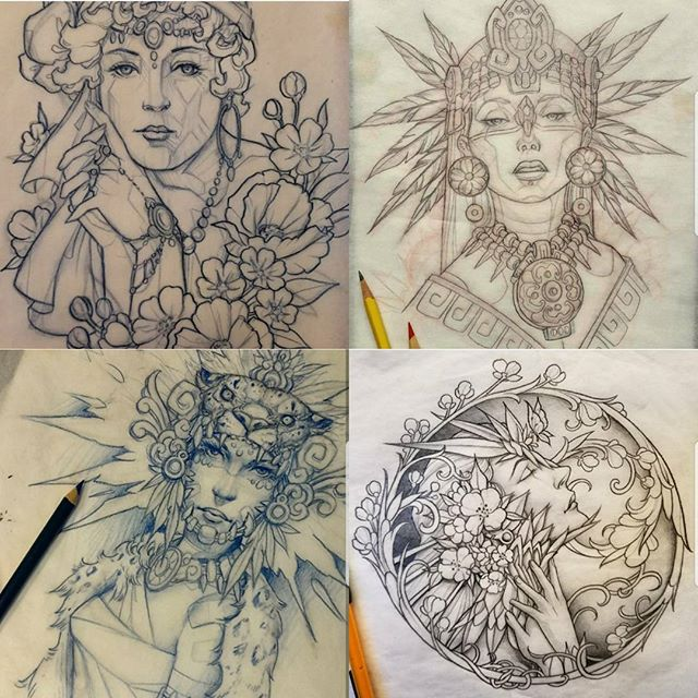 AVAILABLE AS TATTOOS!! Joey would love to tattoo these ladies. Call the shop or email bgeishatattoo@gmail.com to get one while they are still available!! No changes will be made to his art.  @joserodriguez3rd #westseattletattoo #tattoo #cutetattoos #linework #tattooidea #bodyart #inked #artist #ink #artoftheday #colortattoo #tattoosnob #tattooartistmagazine #inkedmag #flash #tattooflash #tattooart #boldwillhold #skinart #bluegeishatattoo