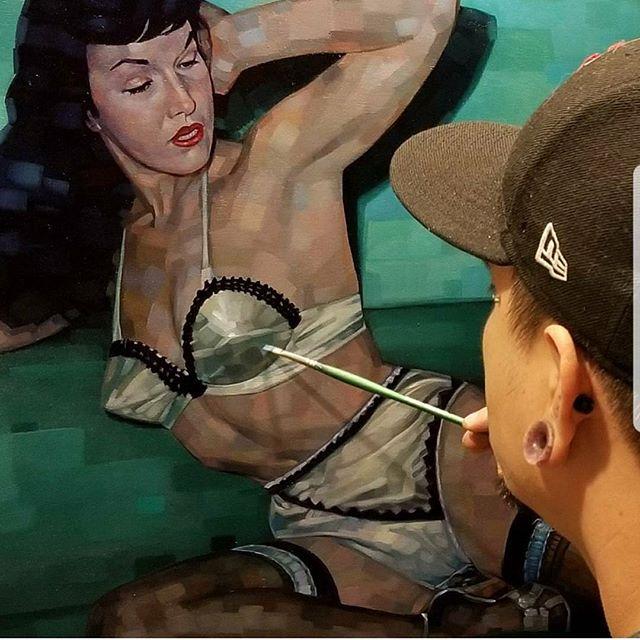 Painting by Joey @joserodriguez3rd #westseattletattoo #tattoo #cutetattoos #linework #tattooidea #bodyart #inked #artist #ink #artoftheday #colortattoo #tattoosnob #tattooartistmagazine #inkedmag #flash #tattooflash #tattooart #boldwillhold #skinart #bluegeishatattoo